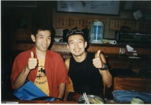 バリ島の日本食レストランにて。ぼくの顔色はまだまだだなあ~