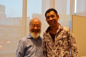 2013年7月、第19回がんコンベンションにて寺山さんと共演